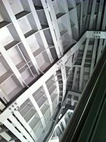 ossature des parois de marbre fondation Vuitton